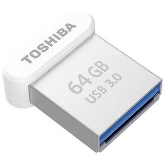 Toshiba U364 USB3.0 64 GB Pen Drive (Silver)