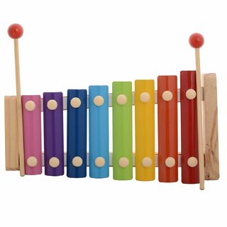 Xylophone wooden with 8 slots Multi-color Toy for Kids