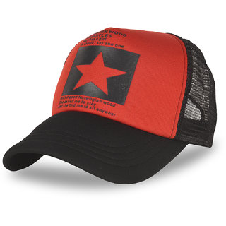 DRUNKEN Mens Mesh Baseball Cap Red Freesize