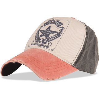 DRUNKEN Mens Washed Cotton Baseball Cap Multicolor Freesize