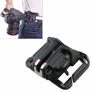 Universal Waist Belt Buckle Adapter for DSLR Camera Black By Cam Cart