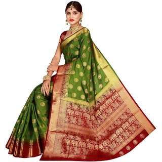 227559fe6a Buy Fab Brand Multi Color Banarasi Silk Saree Online - Get 63% Off