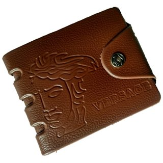 Versage Stylish Brown Men's Wallet (Synthetic leather/Rexine)