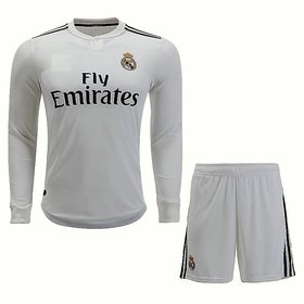 Real Madrid White Color Dry Fit Long Sleeve Jersey