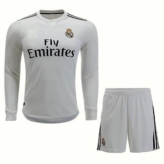 2271e8c54299 Buy Real Madrid White Color Dry Fit Long Sleeve Jersey Online - Get ...