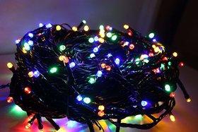SILVOSWAN 50 Meter LED Ladi Serial Bulbs Multicolor for Diwali Decoration / Festival / Christmas / New Year