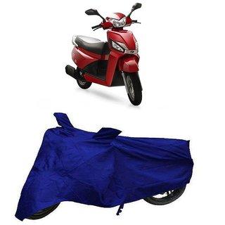 De AutoCare Premium Quality Royal Blue Matty Two Wheeler Scooty Body Cover for Mahindra Ghusto