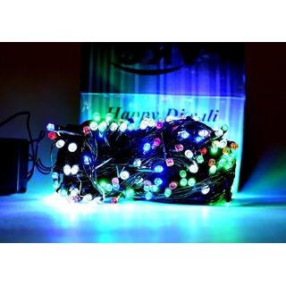 SILVOSWAN LED Ladi / String Light 20 Meter Multicolor for Diwali / Festival / Wedding / Christmas / New Year