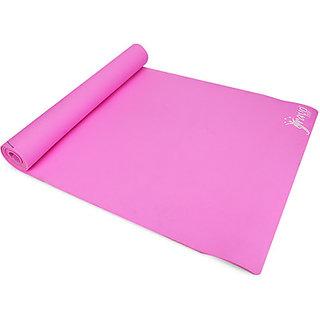 Skycandle.in Plain Yoga Pink 4 mm Mat(33678)