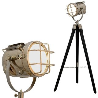 zaidi decorative wooden home decor Floor Lamp Nautical search light on tripod