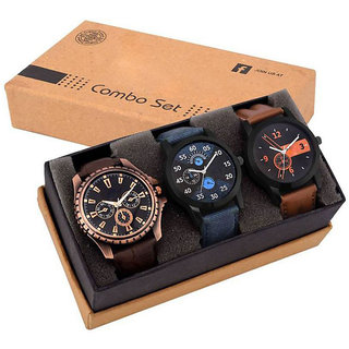 GenZ Stainless steel Chronographic stylish Gifting watch for Men 111