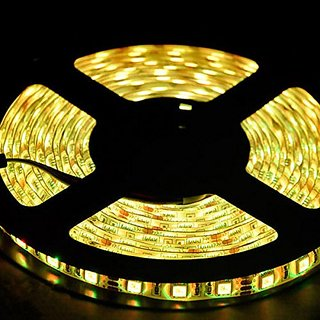 12V Flexible LED Strip Lights, LED Tape, Warm White, IP65 Waterproof, 300 Units 3528 LEDs, Light Strips, 5 Meters (16.4 Feet)