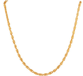 One Gram Gold Plated Brass Chain 22 Inch long / 2mm thick