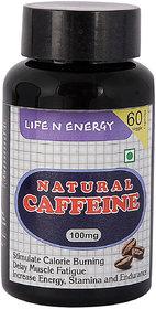 Life N Energy Pure Natural Caffeine Energy, Fat Burner  Alertness 100 mg capsules