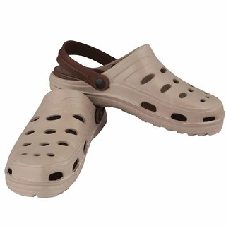 Degire Beige Brown Clogs For Men's / Boy's