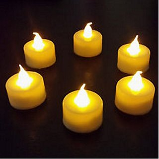 LED Tea Light Candle Pack of 6 Diwali Decoration Flameless