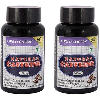 Life N Energy Pure Natural Caffeine Energy, Fat Burner  Alertness capsules 100 mg 120 capsules