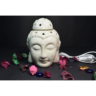 Yourcull ceramic diffuser Electric Aroma burner Buddha shape with 20ml fragrance oil.