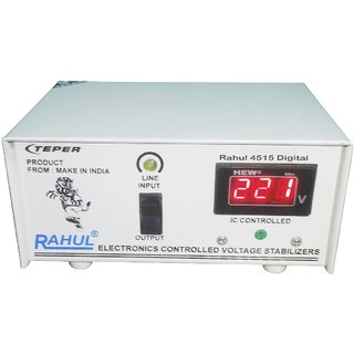 Rahul 4515a Digital 300 VA/1.3 Amp 140-280Volt 1 LCD/LED TV +DVD/DTH/Music System 3 Booster Automatic Digital Stabilizer
