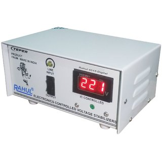 Rahul 4515c Digital 300 VA/1.3 Amp 140-280Volt 1 LCD/LED TV +DVD/DTH/Music System 3 Booster Copper Automatic Stabilizer