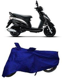 De AutoCare Premium Quality Royal Blue Matty Two Wheeler Scooty Body Cover for Mahindra Rodeo UZO 125