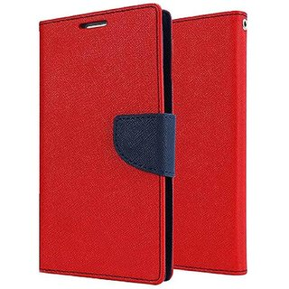 Mobimon Stylish Luxury Mercury Magnetic Lock Diary Wallet Style Flip case cover for Honor 9N - Red