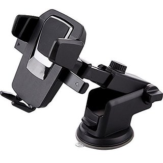 One Touch Car Mount Long Neck Windshield Dashboard Mobile Phone Holder Strong Suction for Smartphone 360 Degree Rotating