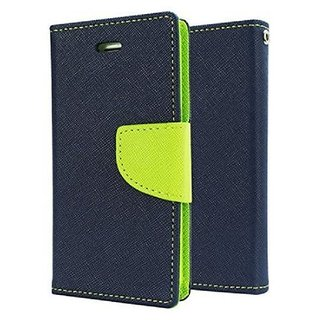 Mobimon Stylish Luxury Mercury Magnetic Lock Diary Wallet Style Flip case cover for OPPO A3S - Blue