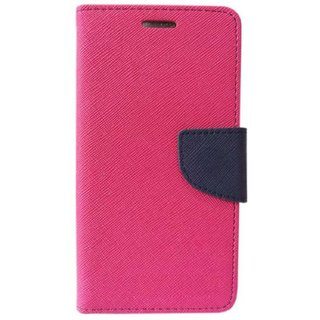 Mobimon Stylish Luxury Mercury Magnetic Lock Diary Wallet Style Flip case cover for OPPO A3S - Pink