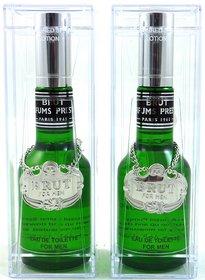Brut Glass Perfume Of 100 ml Edt (Set Of 2 )
