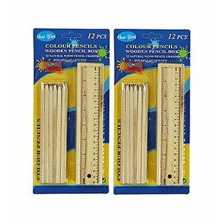 Buy Handicrafts And Gallery Wooden Pencils Set Box Design Art Wood