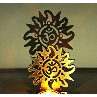 Kartik OM Shadow Lamps tealight Candle Holder Stand for Pooja and Decorative