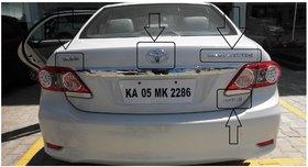 Logo TOYOTA COROLLA ALTIS AS MARKED IN PHOTO BACK KIT Car Monogram Emblem Chrome LOGO