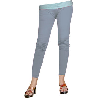Naisargee Women's and Girl's Grey Silk Ankle Length Leggings -(XXL Size)