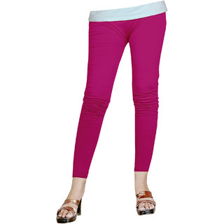 Naisargee Women's and Girl's Rani Pink Silk Ankle Length Leggings -(XXL Size)