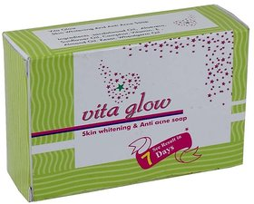 Vita Glow Skin Whitening  Anti Acne Soap 135g (Pack Of 1)