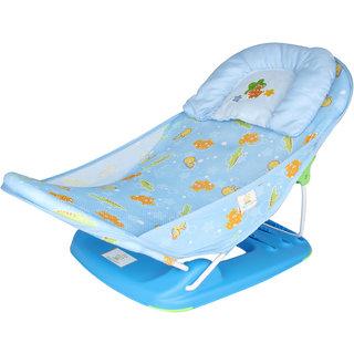 Ole Baby Mastela Seater Aqua Animal Print Soft Fabric Cradle Baby Bather 0 to 6 months