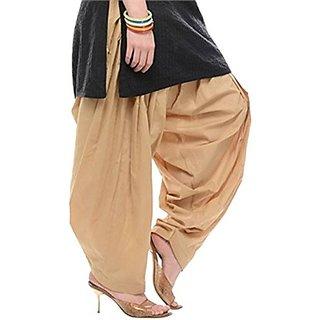 women's cotton Ethnic Readymade Bottom wear Punjabi Patiala Salwar (APSMXALL, Free Size)