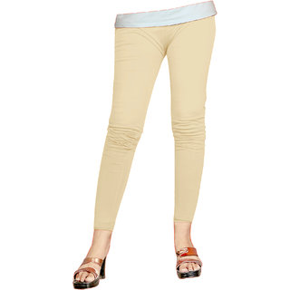 Naisargee Women's and Girl's Cream Silk Ankle Length Leggings -(XXXL Size)