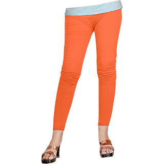 Naisargee Women's and Girl's Orange Silk Ankle Length Leggings -(XXXL Size)