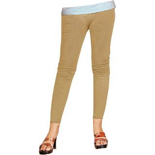Naisargee Women's and Girl's Khakhi Silk Ankle Length Leggings -(XXXL Size)