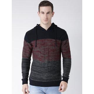 Club York Men's Long Sleeves Hoodi Boucle Acrylic Sweaters
