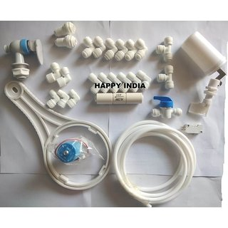 Pipe Connectors/Connection Fitting Pack For RO UV UF 1/4 Pipes Size Tubes Water Filters Purifiers part (pack of 27 pc)