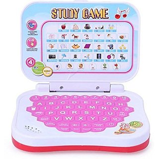 Educational Computer ABC and 123 Learning Kids Laptop with LED Display and Music Pink By BGC.