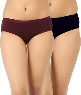 Pack of 2 Women's Plain Panties (Color May Vary)