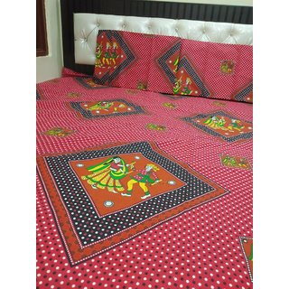 Bedsheets in double bed
