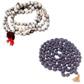 Combo of Energized Original Seeds Vaijanti Mala  108 Lotus Seeds Kamal gatta Mala for Wearing, Pooja Mantra Chanting