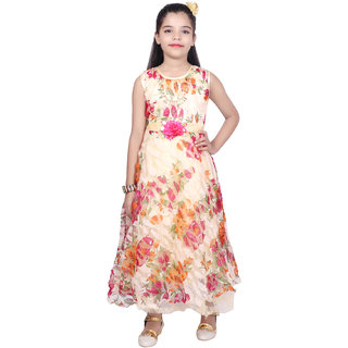 4f6fb23aaf1 Buy Kbkidswear Girl s Round Neck Party Wear Net Ball Gown Online - Get 79%  Off