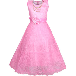 Kbkidswear Girl's Round Neck Party Wear Net Ball Gown