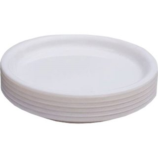 Yourcull Microwave Safe Unbreakable Food Grade Round Virgin Plastic Quater Plates Set of 6